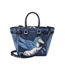 Mini Marylebone Tote in Pegasus Print & Blue Moon Polish