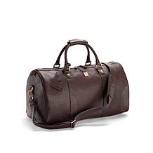 Boston Leather Travel Bag