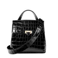 Soho Backpack in Deep Shine Black Croc