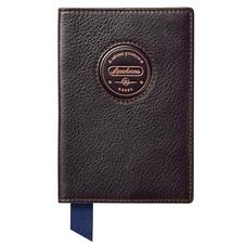 Aerodrome Passport Cover in Dark Brown Pebble