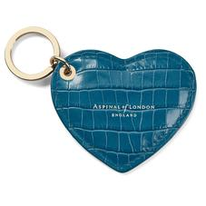 Heart Key Ring in Deep Shine Topaz Small Croc