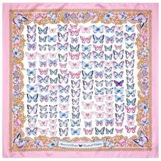 Aspinal x Caudwell Children (Butterflies Silk Scarf in Pink)