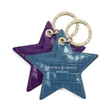 Leather Star Keyring