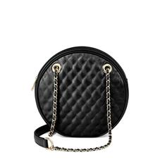 Jackie 'O' Bag in Black Quilted Kaviar