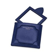 Marylebone Compact Mirror in Midnight Blue Lizard