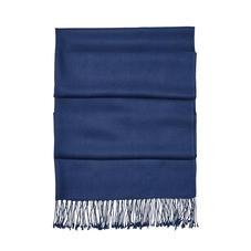 Essential Silk & Cashmere Pashmina in Navy