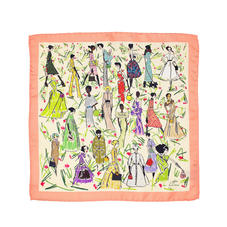 Giles x Aspinal (Pure Silk Pocket Square - Coral)
