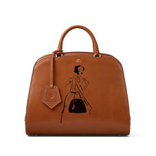 Giles x Aspinal (Hepburn Bag - Smooth Tan)