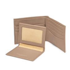 Large ID Wallet in Smooth Camel