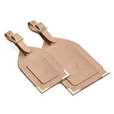Set of 2 Luggage Tags in Smooth Camel