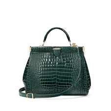 Small Florence Frame Bag in Evergreen Patent Croc