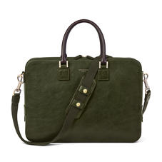 Small Mount Street Bag in Moss Green Pebble