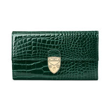 Mayfair Purse in Evergreen Patent Croc