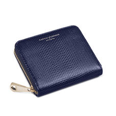 Slim Mini Continental Purse in Midnight Blue Lizard