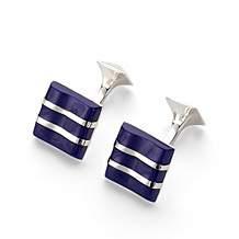 Wave Sterling Silver Cufflinks