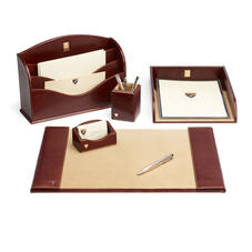 Aspinal Leather Desk Set