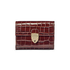 Small Mayfair Purse in Deep Shine Amazon Brown Croc