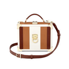 Lion Trunk in Smooth Tan, Ivory & Redwood