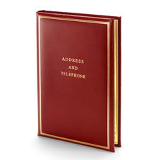 Classic Large Address Book in Smooth Red