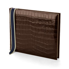 Safari Croc Guest Book in Deep Shine Amazon Brown Croc