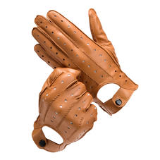 Men's Leather Driving Gloves in Tan