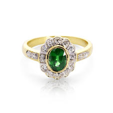 Debutante Emerald & Diamond Ring