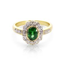 Debutante Emerald & Diamond Ring
