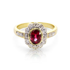 Debutante Ruby & Diamond Ring