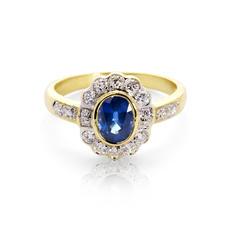 Debutante Sapphire & Diamond Ring