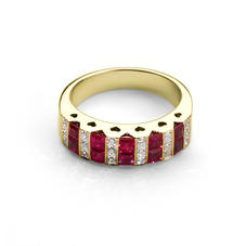 Aspinal Heart Ruby & Diamond Ring