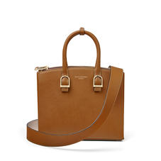 Midi Madison Tote in Smooth Tan