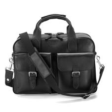 Harrison Overnight Business Bag in Smooth Black