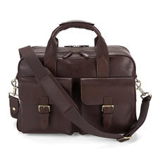 Harrison Overnight Business Bag in Smooth Chocolate Brown