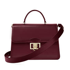 Large Lion Lansdowne Bag in Smooth Claret
