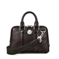 Aerodrome Mini Mission Bag in Dark Brown Pebble
