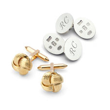 Sterling Silver, Gold & Enamel Cufflinks