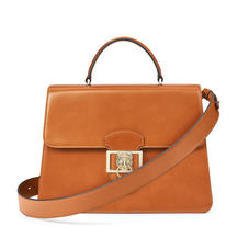 Large Lion Lansdowne Bag in Smooth Tan
