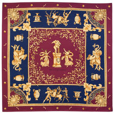 Roman Silk Scarf in Bordeaux