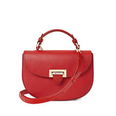 Letterbox Saddle Bag in Scarlet Saffiano