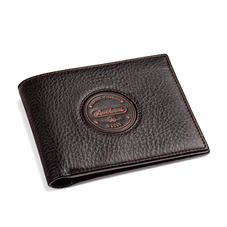 Aerodrome Billfold Wallet in Dark Brown Pebble
