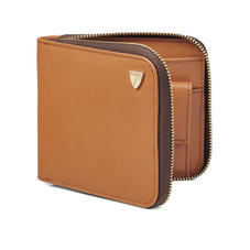Mount Street Zip Around Wallet in Smooth Tan