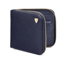 Mount Street Zip Around Wallet in Smooth Navy