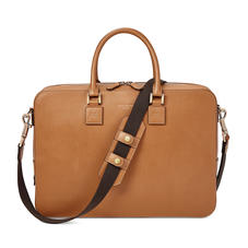 Small Mount Street Laptop Bag in Smooth Tan