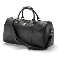 Boston Bag in Black Pebble Calf