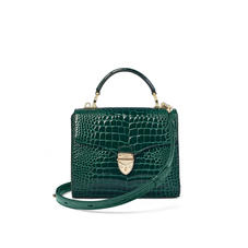 Midi Mayfair Bag in Evergreen Patent Croc