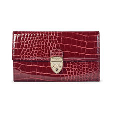 Mayfair Purse in Bordeaux Patent Croc