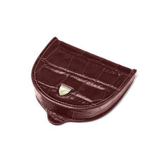 Horseshoe Coin Holder in Deep Shine Amazon Brown Croc