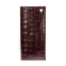 10 Card Slim Coat Wallet in Deep Shine Amazon Brown Croc