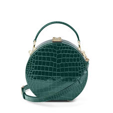Hat Box in Evergreen Patent Croc