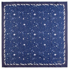 Pegasus Constellation Silk Scarf in Midnight Blue (35.5